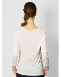 Baserange - Natural Long Sleeve Tee Off White - Lyst