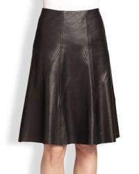 Rag & Bone - Black Kelly Pleated Leather Skirt - Lyst