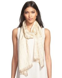Eileen Fisher - Brown 'Latitudes' Shibori Silk Scarf - Lyst