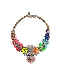 Shourouk - Multicolor Apollonia Rainbow Necklace - Lyst