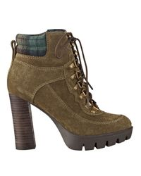 Nine West | Green Abrial Lace-up Booties | Lyst