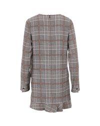 Essentiel Antwerp | Gray Women's Check Dress | Lyst