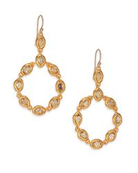 Alexis Bittar | Metallic Elements Moonlight Crystal Circle Drop Earrings | Lyst