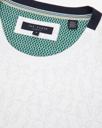 Ted Baker   White Ball Print T-shirt for Men   Lyst