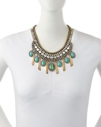DANNIJO - Blue Costella Turquoise Statement Necklace - Lyst