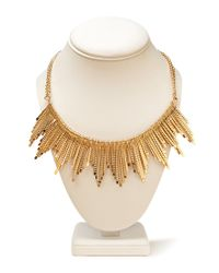 Forever 21 | Metallic Traveler Fan Bib Necklace | Lyst
