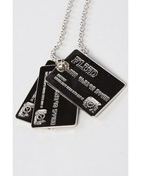 Flud Watches - Metallic The Credit Card Necklace - Lyst