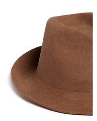 Stella McCartney - Brown Wool Felt Trilby Hat - Lyst