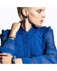 Alexis Bittar | Blue Dangling Lucite Geometric Clip Earring With Custom Baguette | Lyst