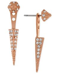 Vince Camuto | Metallic Rose Gold-tone Pavé Stud And Spike Ear Jackets | Lyst