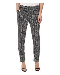 Vince Camuto - Black Linear Scratches Skinny Ankle Pant - Lyst