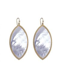 Asha | White Capri Earrings, Mother Of Pearl | Lyst