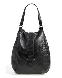 RVCA - Black 'I'M Booked' Faux Leather Backpack - Lyst