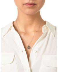 Laura Lee | Metallic Silver Diamond Gemini Necklace | Lyst
