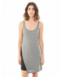 Alternative Apparel | Gray Eco-jersey Asymmetrical Dress | Lyst