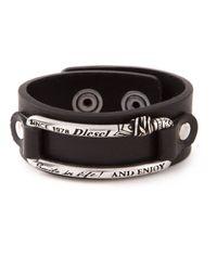 DIESEL | Black 'Almes' Bracelet | Lyst
