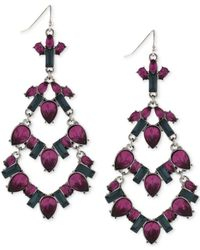 BCBGeneration | Hematite-tone Purple Stone Chandelier Earrings | Lyst
