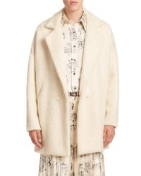 La Prestic Ouiston - White Deauville Virgin Wool-blend Coat - Lyst