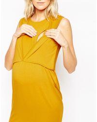 ASOS - Yellow Maternity Nursing Tulip Dress - Lyst