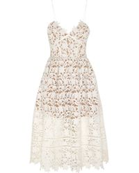 Self-Portrait - White Azaelea Floral-Lace Dress - Lyst