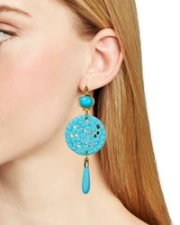 Kenneth Jay Lane - Blue Leverback Drop Earrings - Lyst