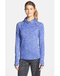 Nike | Blue 'element' Dri-fit Running Hoodie | Lyst