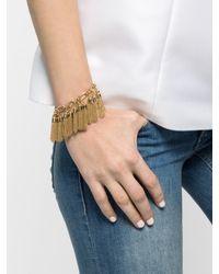 BaubleBar - Metallic Mini Chain Tassel Bracelet - Lyst