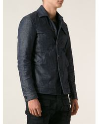DSquared² - Blue Workwear-Style Denim Jacket for Men - Lyst
