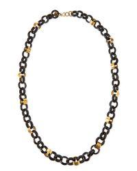 Ashley Pittman - Black Jinsi Dark Horn Round Chain Necklace - Lyst