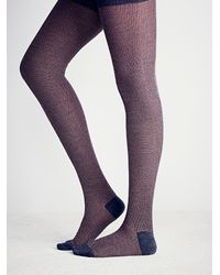 Free People | Purple Hansel From Basel Womens Grotto Heathered Tight | Lyst