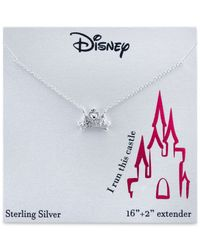 Disney | Metallic Crown Pendant Necklace In Sterling Silver | Lyst