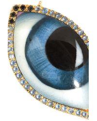 Lito   Blue Tu Es Partout 14karat Rose Gold Blackened Sterling Silver Multistone Necklace   Lyst