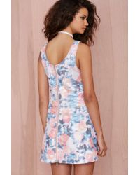 Nasty Gal - Multicolor Go With The Floral Metallic Dress - Lyst