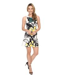 Karen Kane - Black Floral Scuba Flirt Dress - Lyst