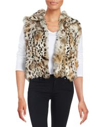 Adrienne Landau | Multicolor Short Rabbit Fur Vest | Lyst