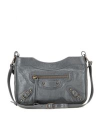 Balenciaga - Gray Classic Hip Leather Shoulder Bag - Lyst