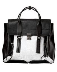 3.1 Phillip Lim | Black Pashli Colorblock Satchel Bag | Lyst
