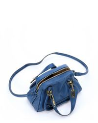 Chloé | Factory Blue Leather Small 'paraty' Convertible Top Handle Bag | Lyst