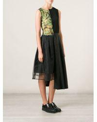 Comme des Garçons - Black 'Tricot Cdg' Panelled Dress - Lyst