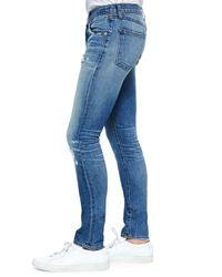 J Brand   Blue Mick Destructed Stretch Denim Jeans for Men   Lyst