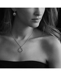 David Yurman - White Pearl Earrings With Diamonds - Lyst