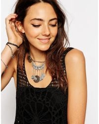 ASOS - Metallic Coin Charm Choker Necklace - Lyst