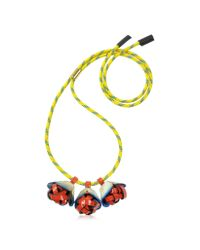 Marni | Multicolor Horn And Leather Necklace | Lyst