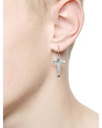 Emanuele Bicocchi | Metallic Limit.Ed Silver Cross Mono Earring | Lyst