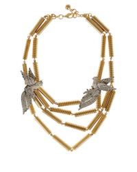 Lulu Frost | Metallic Gold-Tone Aviary Statement Necklace | Lyst