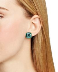 kate spade new york | Blue Gold-tone Small Square Stud Earrings | Lyst