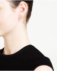 Natasha Collis | Metallic 18 Karat Gold Diamond Stud Earrings | Lyst