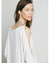 Free People - Natural Womens Cold Shoulder Pullover - Lyst