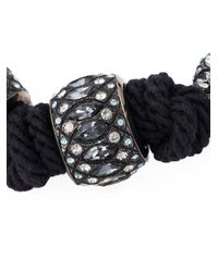 Lanvin - Black Embellished Necklace - Lyst