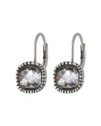The Sak | Metallic Cushion Stone Leverback Earrings | Lyst